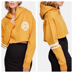 FREE PEOPLE $88 CANARY COMBO CROP SWEATER M